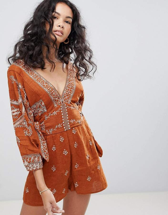 Free People Azalia Printed Playsuit