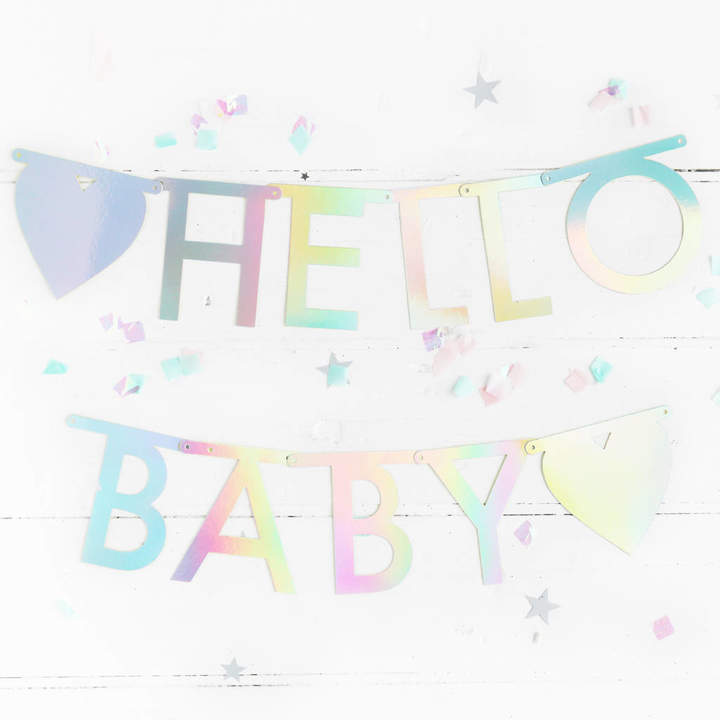 Postbox Party Holographic Silver Letter Garland Kit