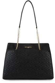 Quilted Leather Chain Tote