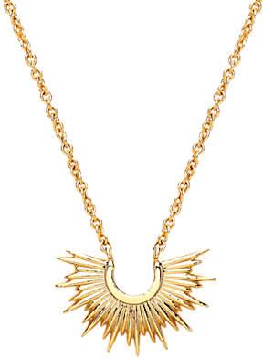 Estella Bartlett Half Sunburst Pendant Necklace, Gold