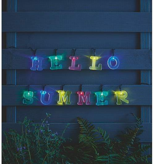 George Home Multi-coloured Solar-powered DIY Letter Lights