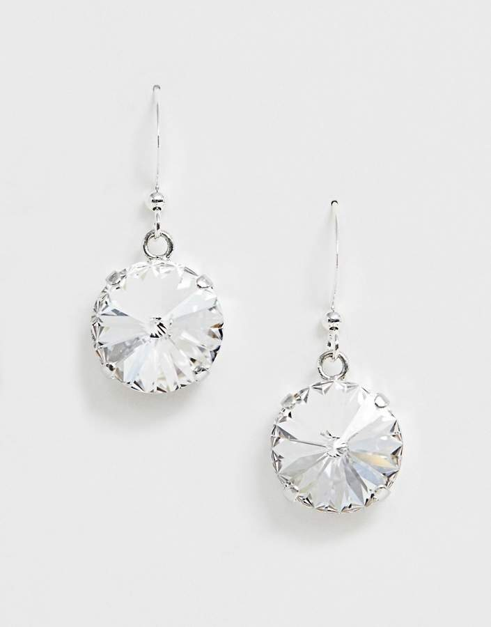 Krystal London Swarovski Crystal rivoli on earhook earrings