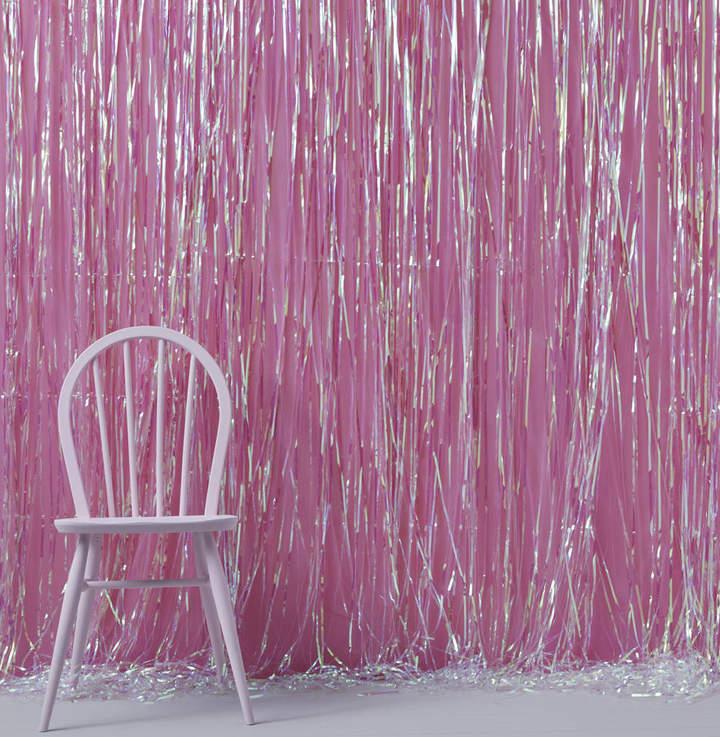 Ginger Ray Rainbow Iridescent Fringe Curtain Party Decoration