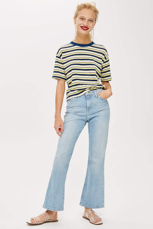 Topshop Womens Bleach Dree Cropped Jeans - Bleach Denim