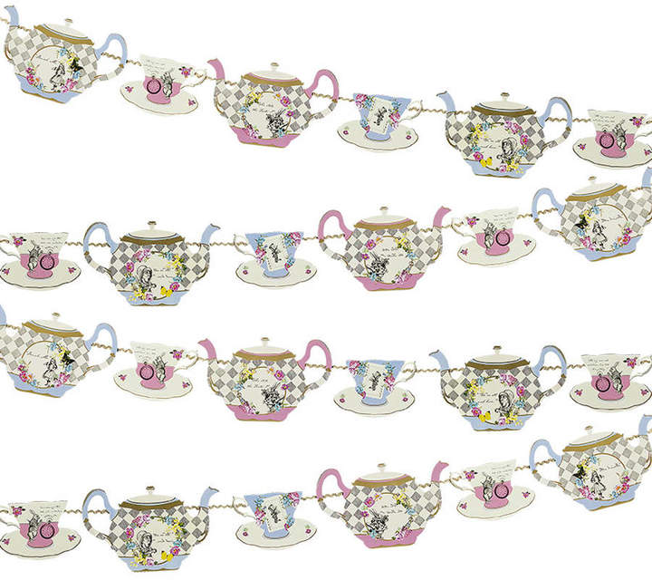 Postbox Party Alice In Wonderland Tea Pot Party Bunting