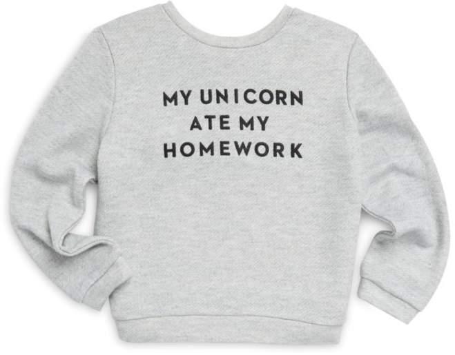 Milly Minis Toddler's, Little Girl's & Girl's Unicorn Sweatshirt