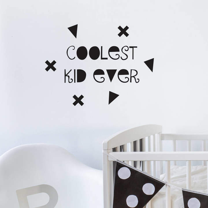 Nutmeg Wall Stickers 'Coolest Kid Ever' Wall Sticker