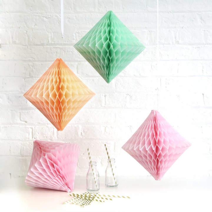 Peach Blossom Tissue Paper Diamond Party Decoration