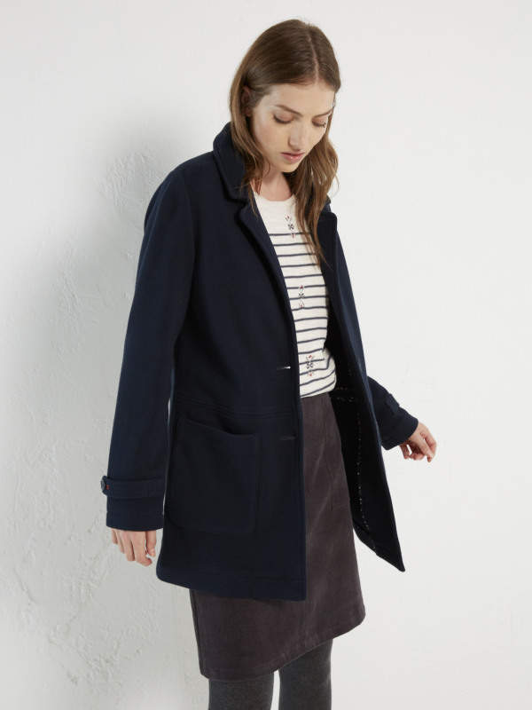 White Stuff Swale Jersey Coat