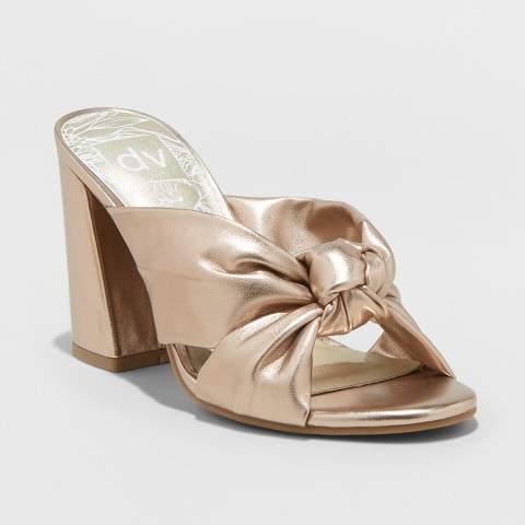 dv Women's dv Knotted Mule Heels - Gold