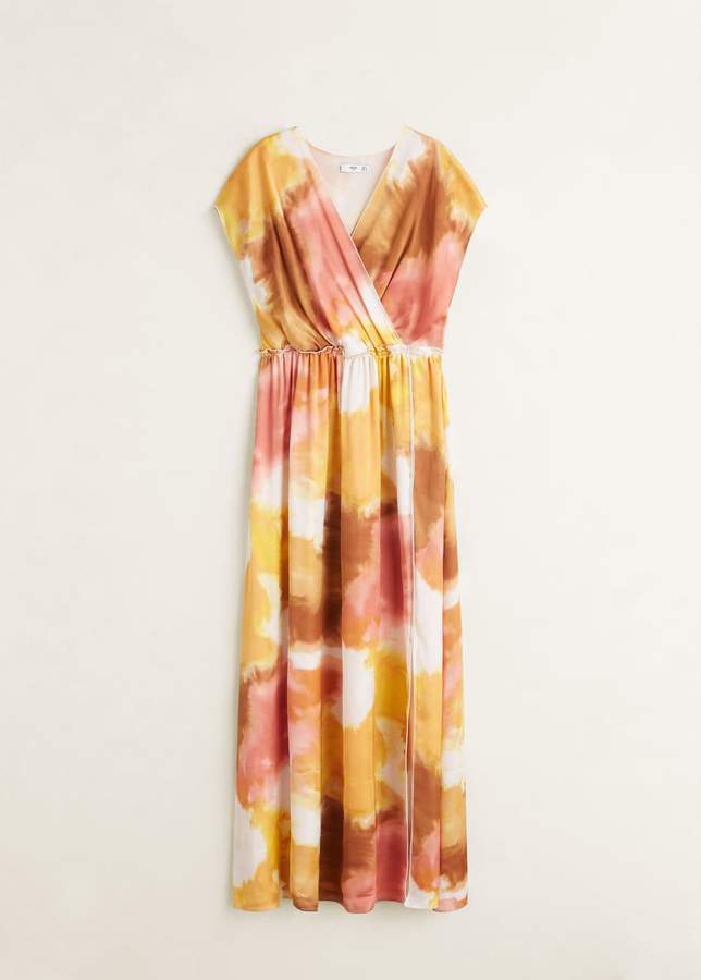 Tie-dye print dress