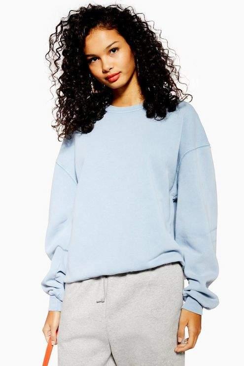 Topshop Womens Stonewash Sweatshirt