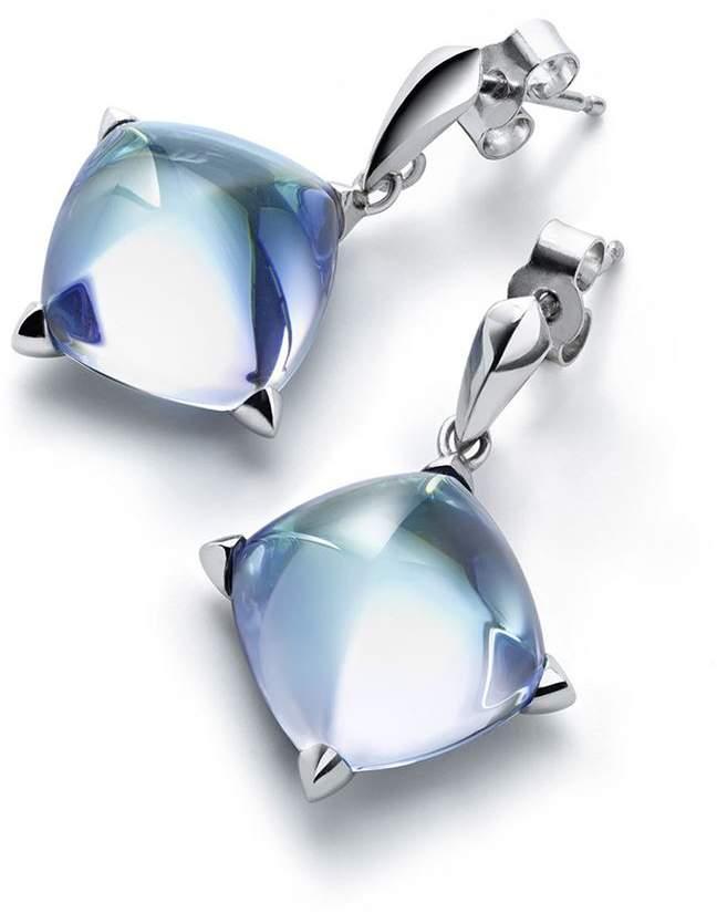 Baccarat Silver and Crystal Médicis Stud Earrings