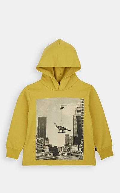 Molo Kids Kids' Robert Flying-Dinosaur Cotton Hoodie - Gold