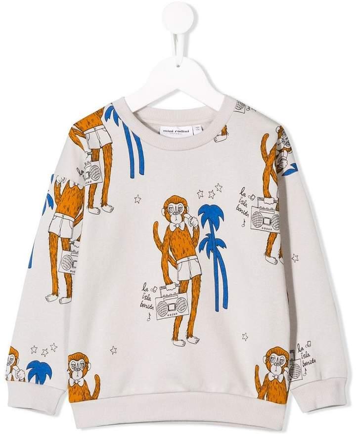 Mini Rodini monkey print sweatshirt
