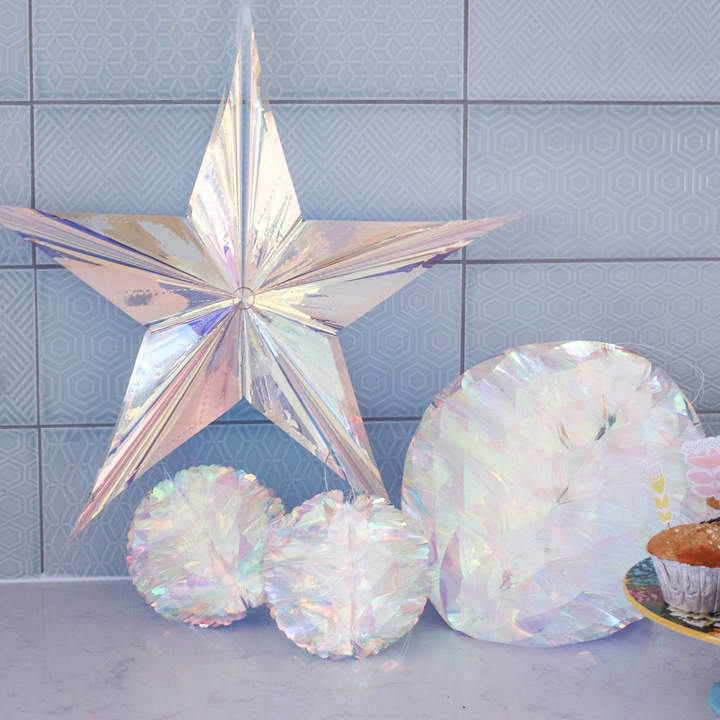 Bonnie and Bell Party Decorations, Holographic Honeycomb Party