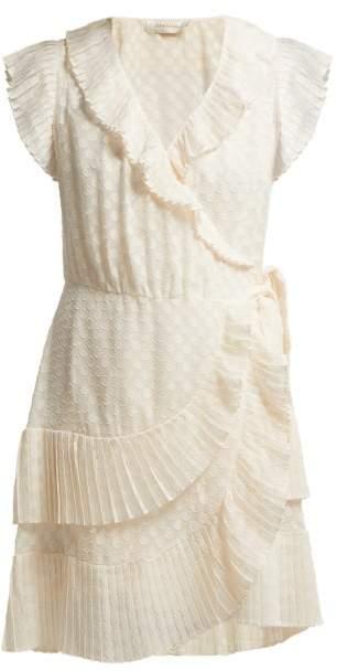 Zimmermann - Plisse Trim Wrap Mini Dress - Womens - Cream
