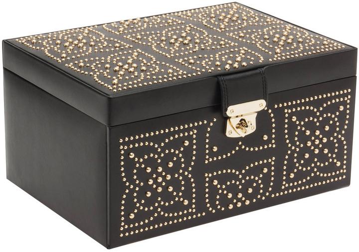 Wolf - Marrakesh Medium Jewellery Box - Black