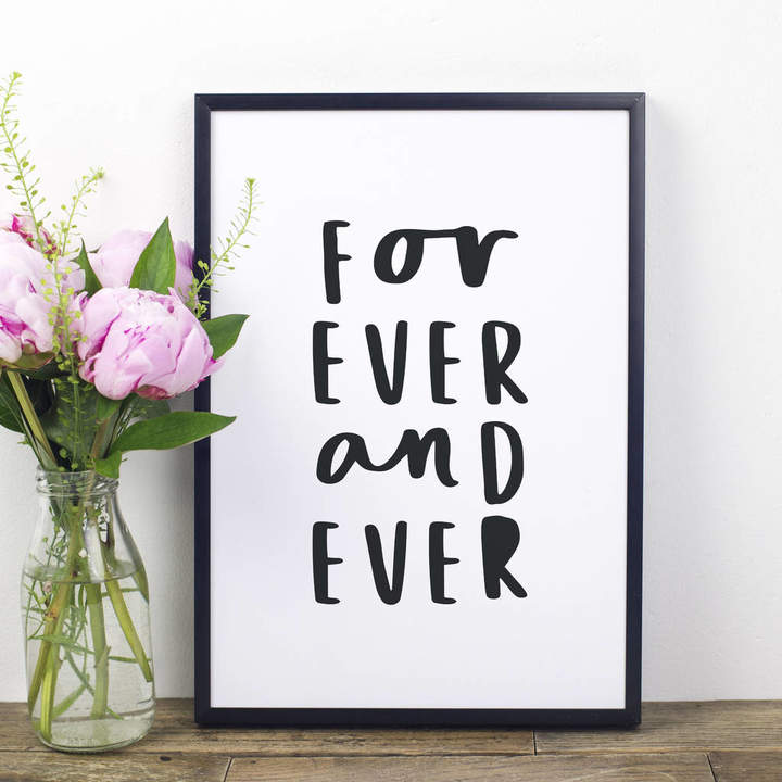 Russet and Gray Forever And Ever Print