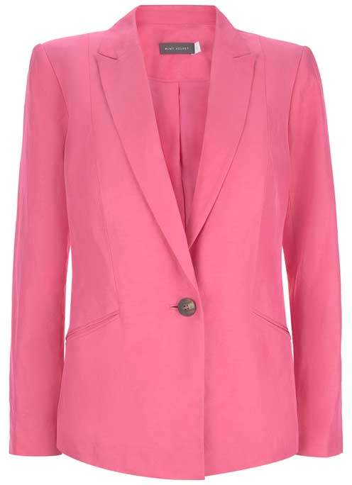 Mint Velvet Bubblegum Tailored Blazer