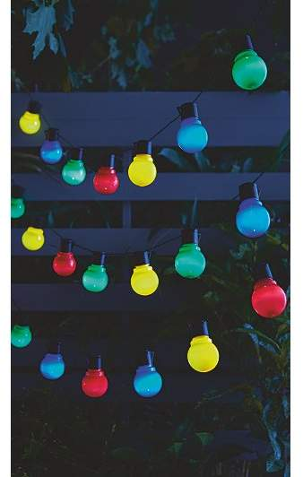 George Multi-coloured Solar-powered Globe Party Lights