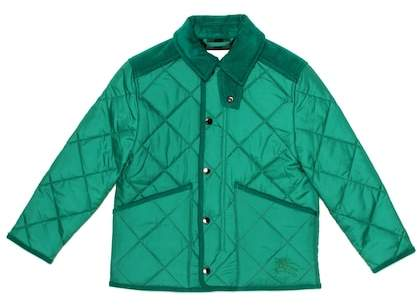 Burberry Kids Quilted corduroy-trimmed jacket