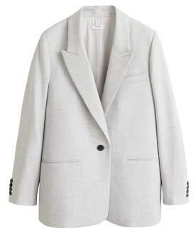 Flecked structured blazer