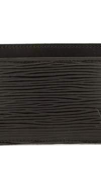 Louis Vuitton Black Epi Leather Simple Card Holder