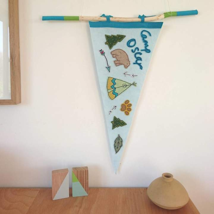 CubbKids Personalised Camping Party Pennant Flag