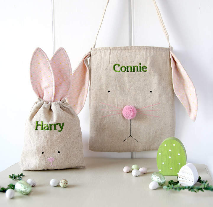 Red Lilly Name Embroidered Rabbit Party Bag