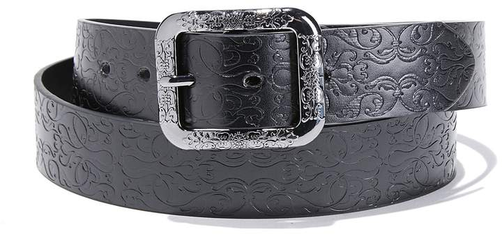 LA REDOUTE COLLECTIONS Embossed Belt with Square Buckle
