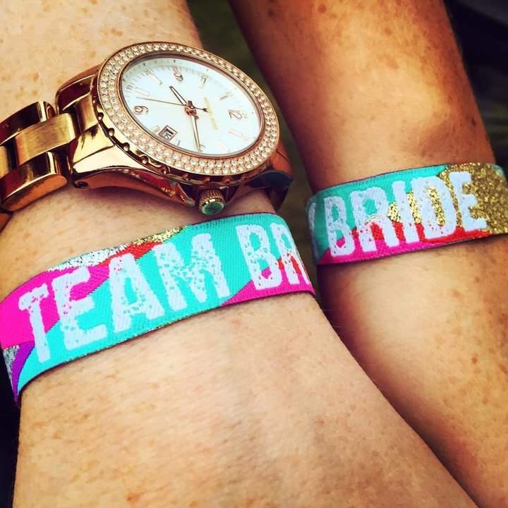 WEDFEST Team Bride Multicoloured Hen Party Wristbands