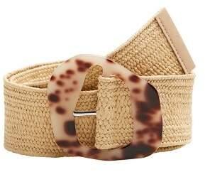 Braided tortoiseshell-effect belt