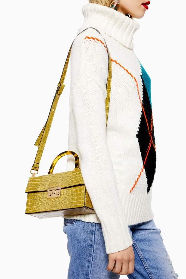 Topshop Womens Cannes Boxy Grab Bag - Yellow