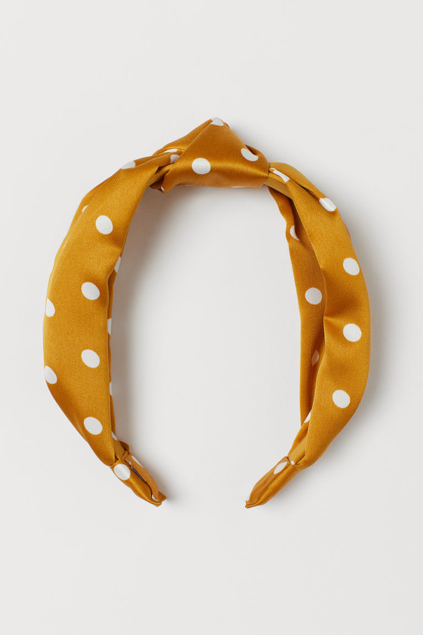 H&M - Hairband with Knot - Yellow