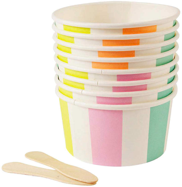 Peach Blossom Ice Cream Party Cups