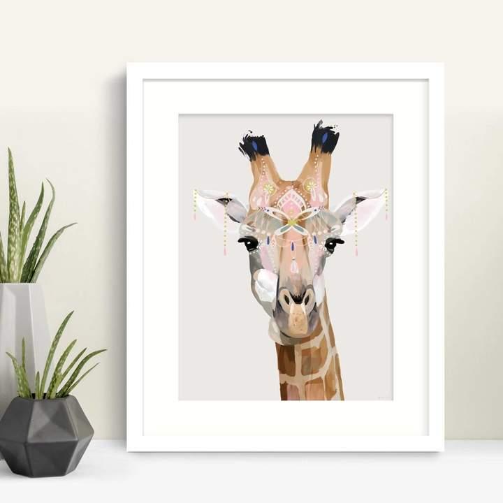 Green Lili Bohemian Giraffe Print