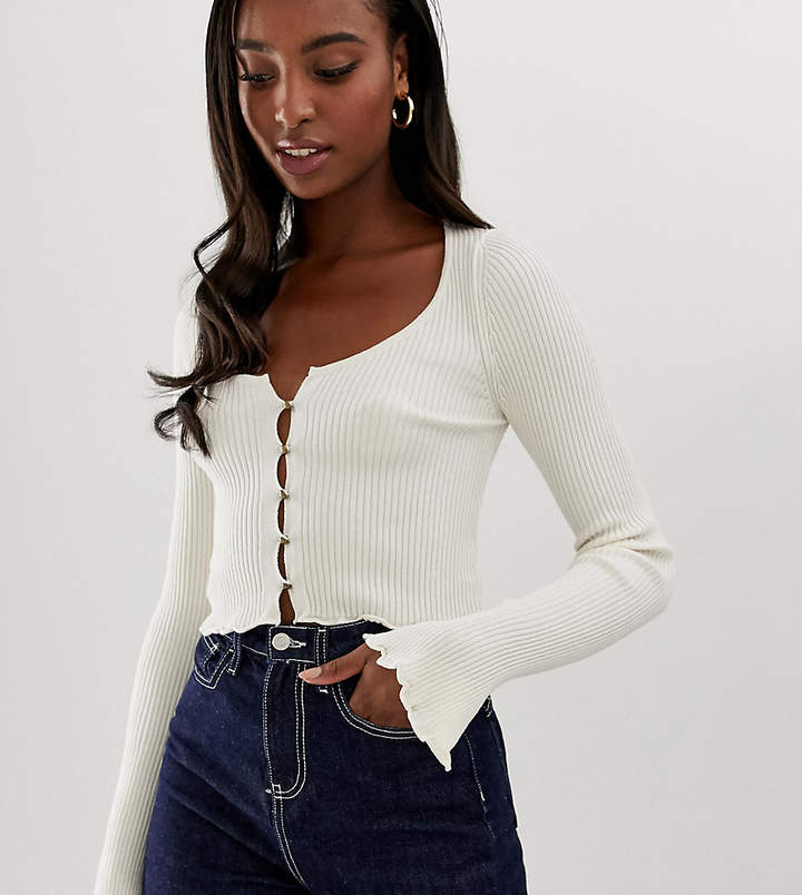 Asos Tall ASOS DESIGN Tall button front cardigan with scoop neck