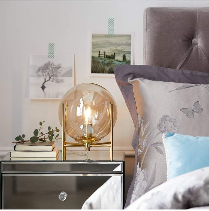 Ideal Home Stormi Champagne Ball Table Lamp