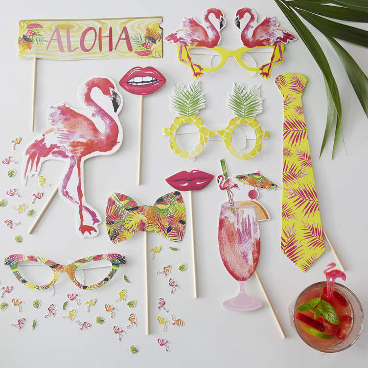 Ginger Ray Tropical Flamingo Summer Party Photo Booth Props
