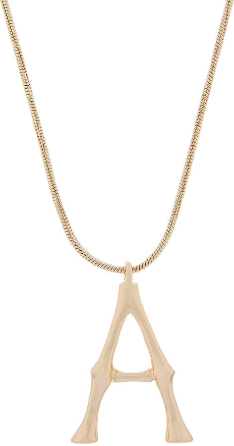 Accessorize Oversized Bamboo Initial Pendant Necklace A