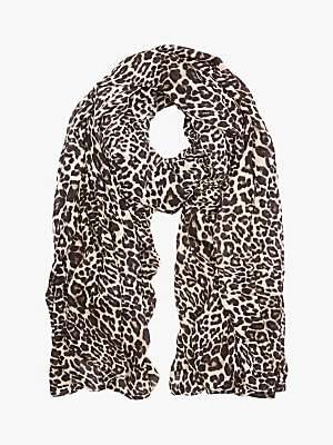 Mint Velvet Leopard Print Scarf, Multi