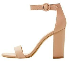 Leather ankle-cuff sandals