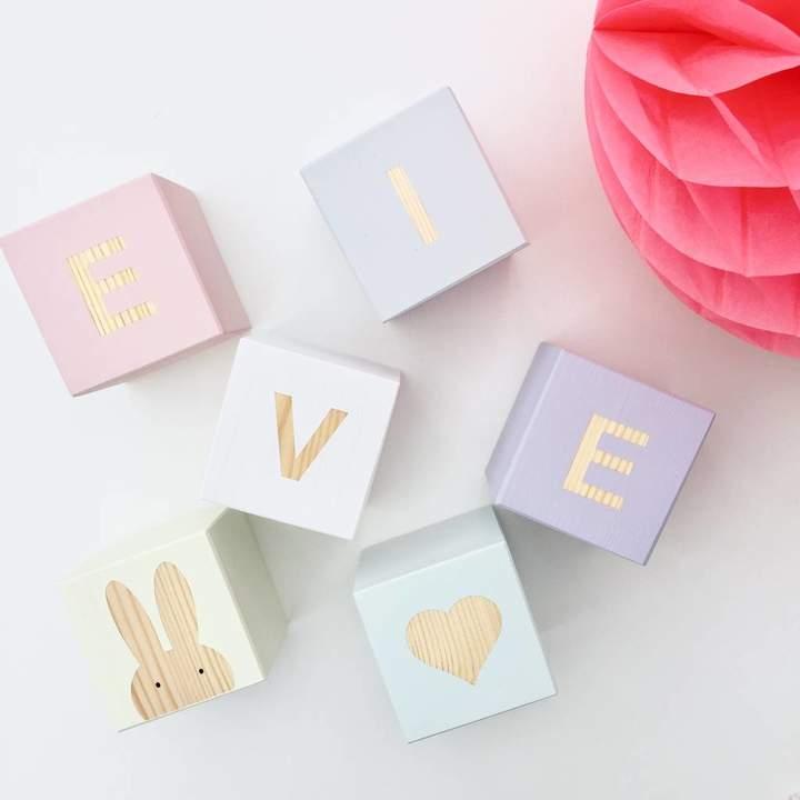 Myla & Oscar Personalised Pastel Play Cubes