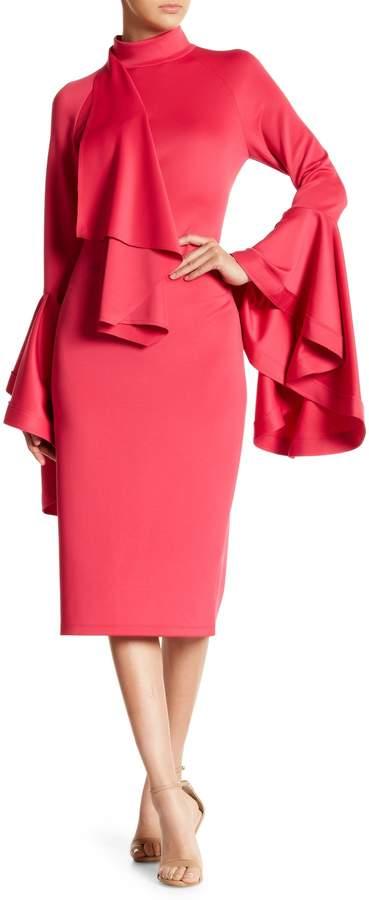 Why Dress Sleeved Ruffle Detail Dress