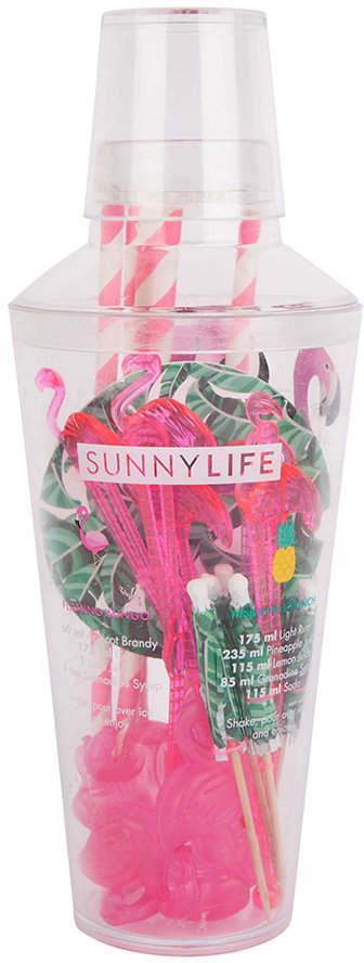 Sunnylife - Tropical Cocktail Kit - Flamingo & Palm Leaves