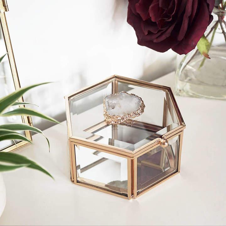 Nikita By Niki ® Glass Agate Crystal Jewellery Trinket Box