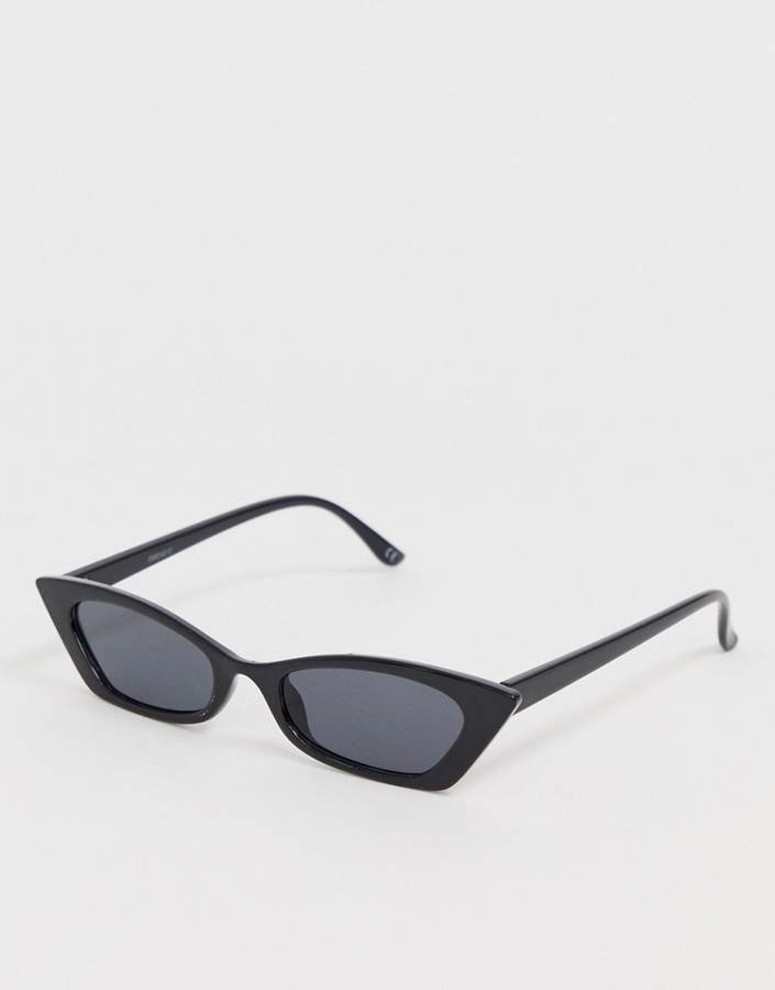 Asos Design ASOS DESIGN squared off narrow cat eye sunglasses