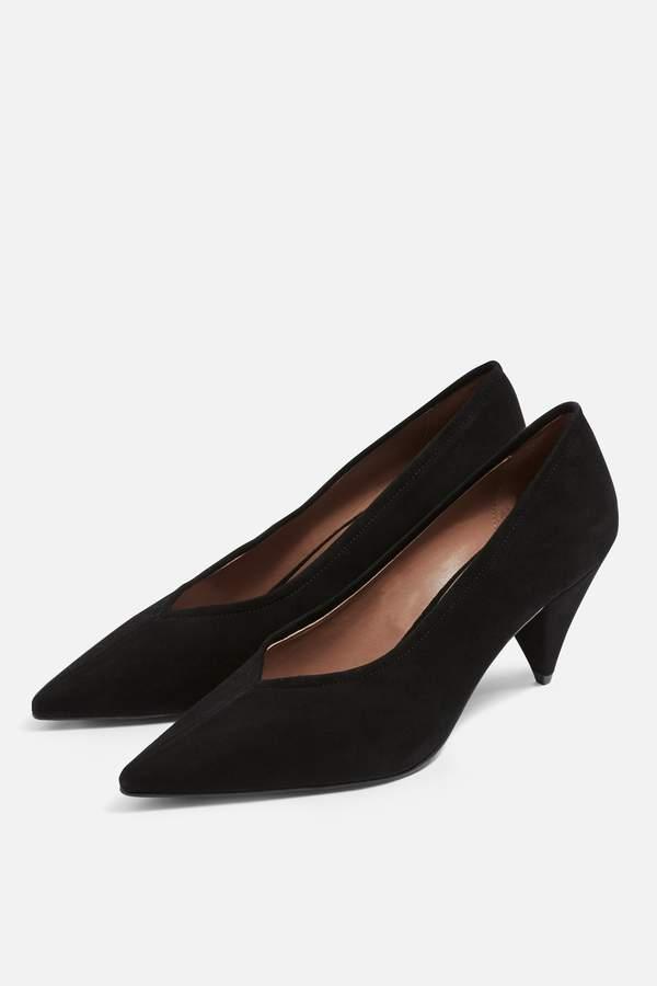Topshop Womens Jeri Court Shoes - Black