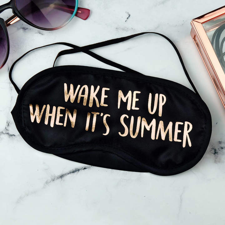 Paper Plane Wake Me Up When It's Summer Gold Foil Eye Mask